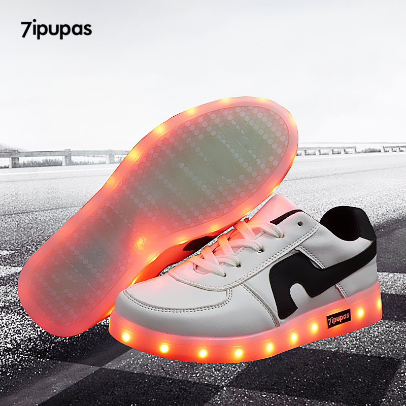 7ipupas led shoe 7 colors chaussures kid usb Charge Led Lights sneakers Emitting Luminous boy girl