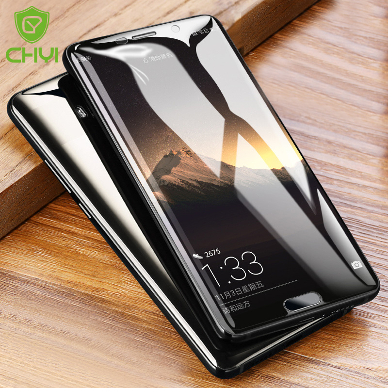 Chyi 3d Curved Round For Huawei Mate 10 Pro Bla Screen Protector Full Screen Hydrogel Film With Tools Not Tempered Glass Pure Whiteness Mobile Phone Accessories