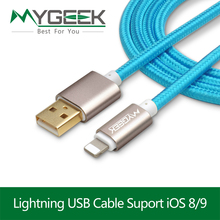 MyGeek USB Cable For iPhone 5 s 5s 6s 6 7 Plus Mobile Phone cable Data Sync Charger 2m 3m Wire for ios 9 10