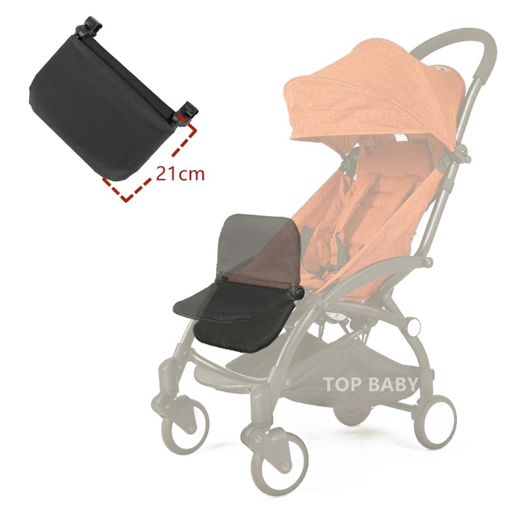 Nouveau bébé poussette accessoires mise à niveau 21 cm plus repose-pieds pour babyzen yoyo babytime poussette sommeil pied elargir conseil pied de lit