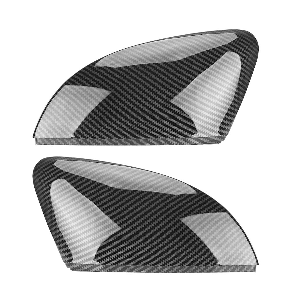 2 Pieces For Volkswagen VW Polo MK5 6R 6C With Indicator ABS Carbon Fiber Color Replacement Rear View Side Mirror Cover Caps