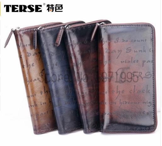 TERSE 2016 Hot Sale font b wallet b font Genuine Leather font b Men b font