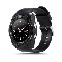 Bluetooth Smart Watch V8 Uhr Mit SIM-TF-KARTE Sync Notifier Smartwatch Für IOS Android Runde Uhr PK DZ09 GT08 Sportuhr