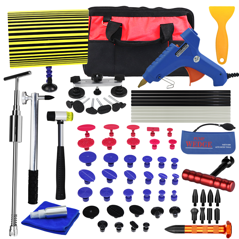 PDR Tools Kit Dent Removal Paintless Dent Repair Tools Car Dent Repair Straightening Dents Instruments Ferramentas dent puller kit pdr tools paintless dent repair removal tool car straightening instruments hand tool set ferramentas suction cup