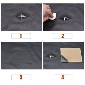 Image 5 - 50 × 135センチメートルpuレザー修復パッチ自己粘着ソファ修理シミュレーションバックスキン粘着性ゴムパッチ革ソファ生地