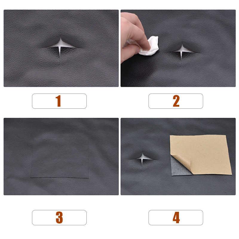 In pelle patchs Self Adhesive Stick-on Nessun Rivestire di Ferro Divano Riparazione Cuoio DELL'UNITÀ di elaborazione di Adesivi In Tessuto Toppe e Stemmi Per Abbigliamento, borse, sacchetti di Auto