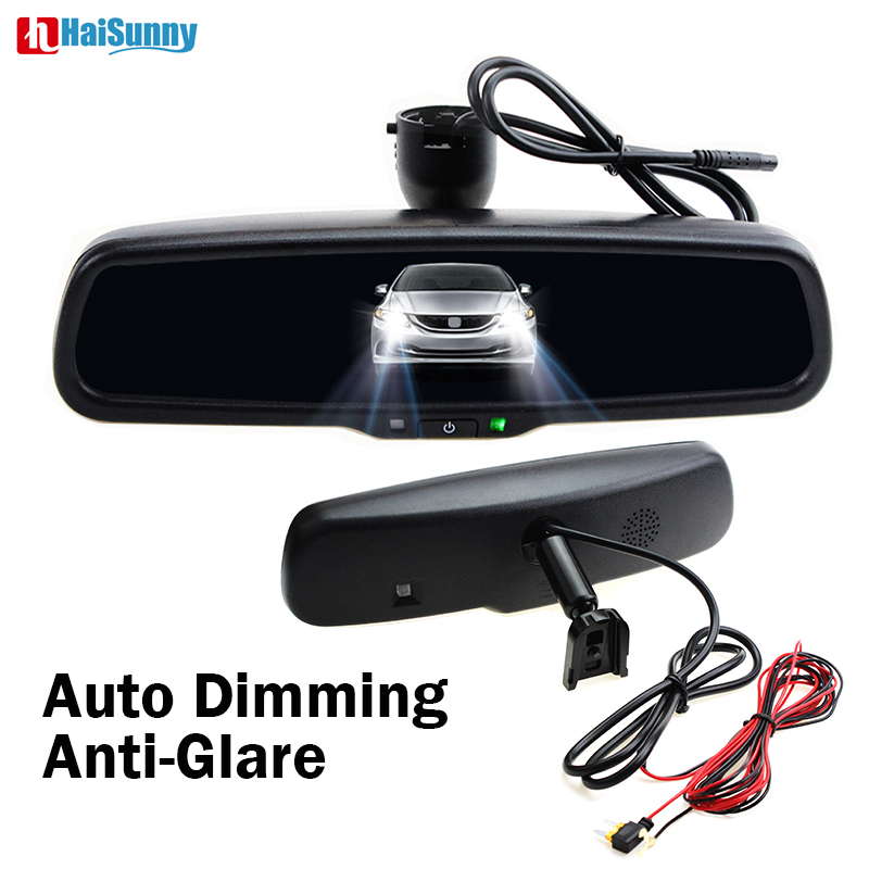 HaiSunny Auto Anti highlight Car Interior Rear View Mirror with Special Bracket For Honda CRV CIVIC