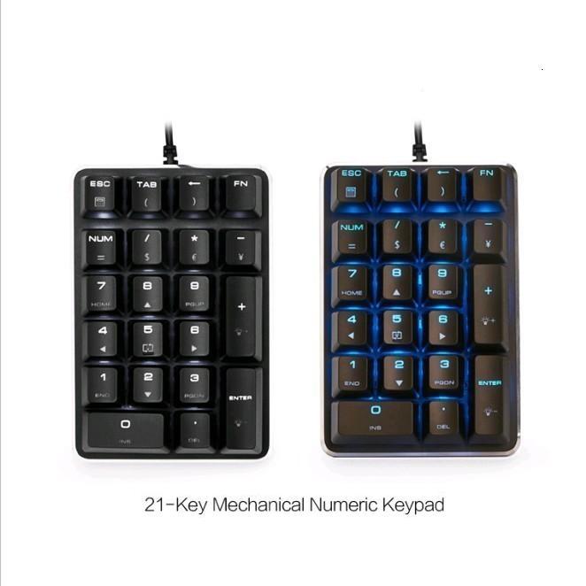Magicforce 21 Keys Number Pad USB Mechanical Keyboard Numeric Keypad Gateron Cherry MX Switches numeric keypad 19 keys
