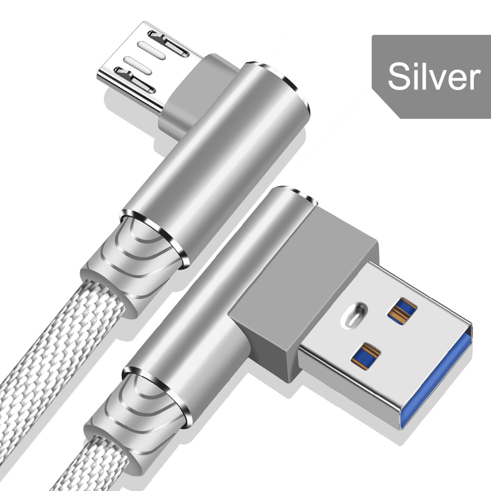 OLAF Micro USB Cable 90 Degree USB Cable 1m 2m 3m for Samsung S7 S6 2.4A Fast Charging for Huawei for Xiaomi Tablet Cables 12