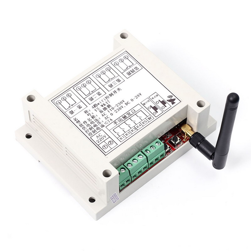 AC 110V-230V Wifi Relay Switch Multi Channel Mobile Phone Remote Control Network Relay Module With Antenna Wireless Smart Home
