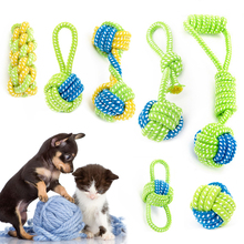 Pas igračica Chews Cotton Rope Pet čvor igračke za Pet brušenje zubima zub Čišćenje Igračke Modeliranje Miansheng tkanja 1Pic 05