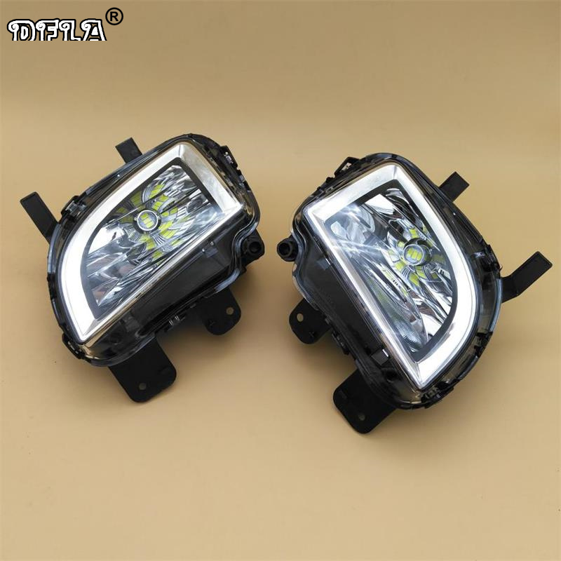 Car LED Light For VW Golf 6 MK6 GTI 2009 2010 2011 2012 2013 Car-styling Front LED Light Fog Lamp Fog Light 2pcs white under led side mirror puddle light lamp for vw golf gti mk6 6 mkvi 2010 2014