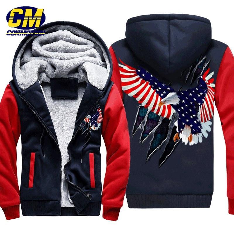 INTERESTPRINT Mens Pullover Full Zip Hoodies Sweatshirt Eagles