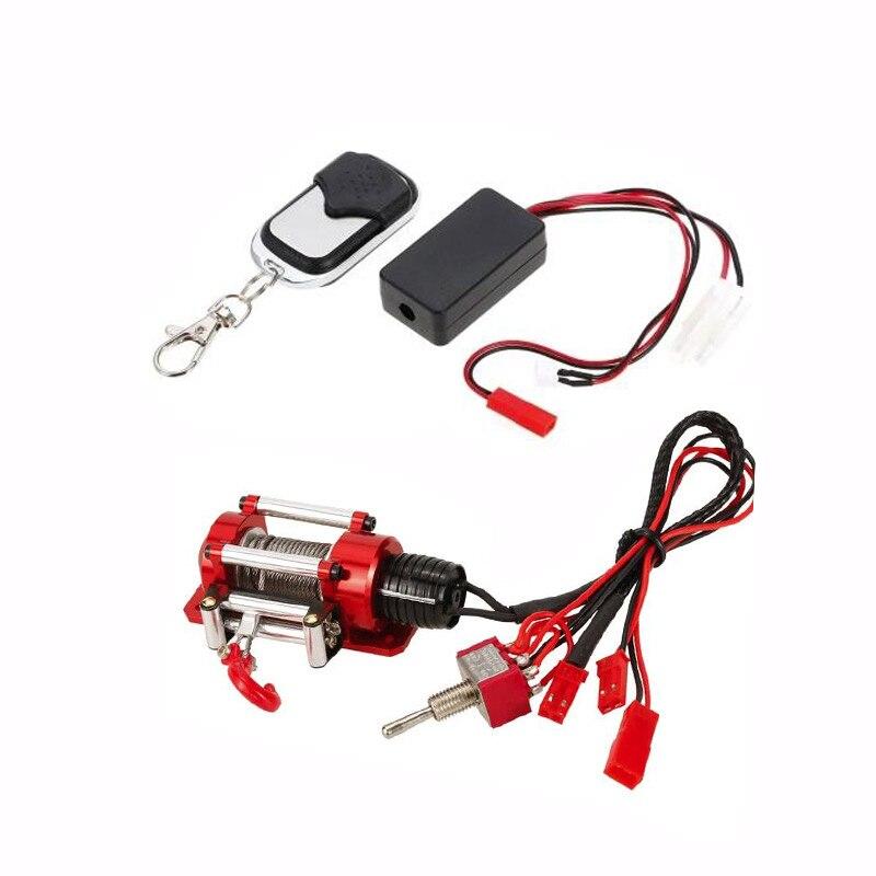 RC Crawler Metal acero con cable cabrestante w/receptor remoto para 1/10 Traxxas TRX4 HSP Redcat TAMIYA CC01 Axial SCX10 d90