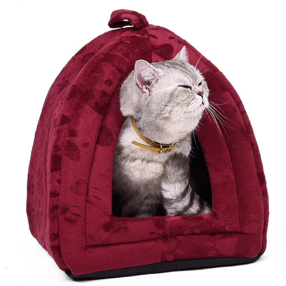Cone Pet Cat Bed Kitten Kennel Very Soft Fabric Dog Bed Pet House Puppy Dog Cat With Paw Cama Para Cachorro Products For Animals #4