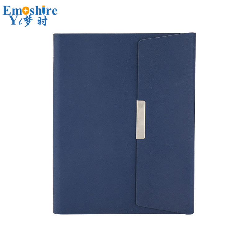 цена на A5 Creative Three Fold Magnetic Buckle Detachable Loose-leaf Business Office Notebook Stationery Hard Leather Notepad N180