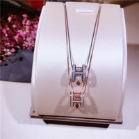 Fashion Hollow H Letter Necklaces Pendants alphabet silver Color 925 silver Choker Initial Necklace Women Girl Jewelry Collier