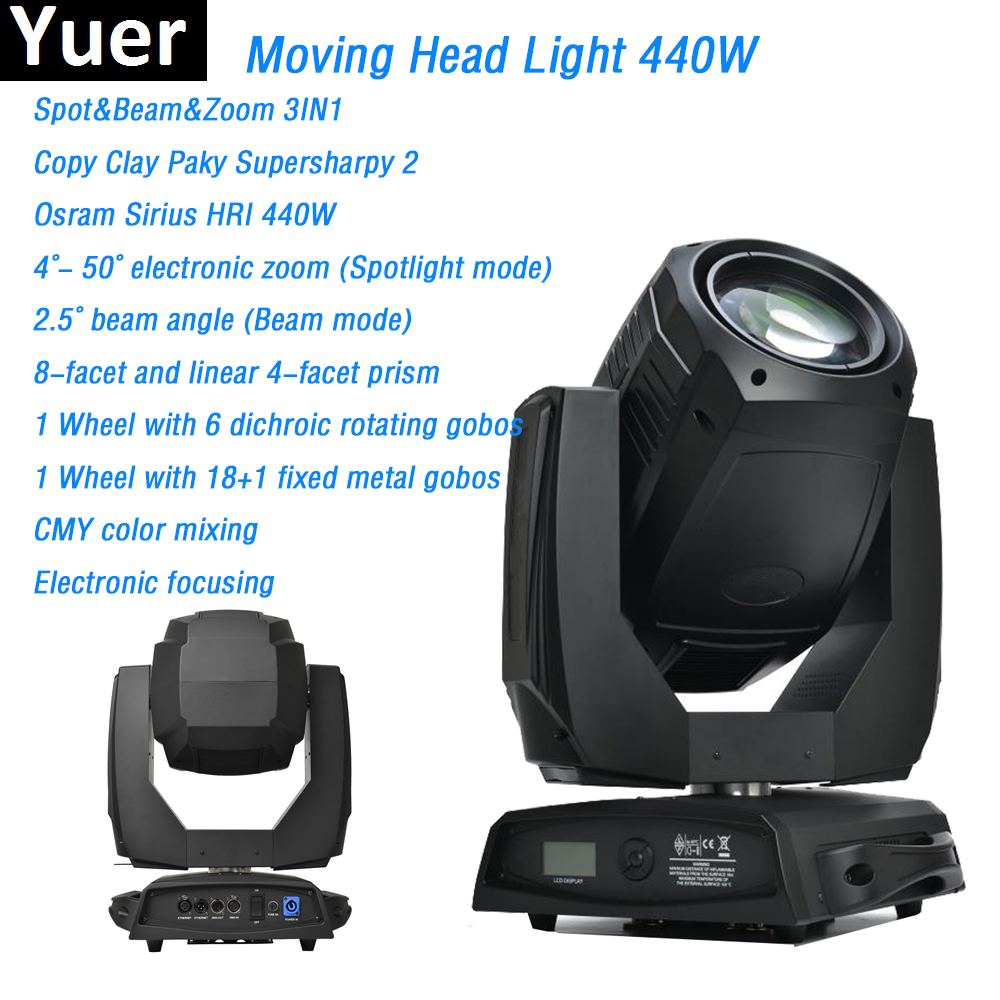 spot beam zoom 3in1 moving head light Osram 440W clay paky cmy color mixing dj light disco light stage effect lighting dmx512 10pcs lot cheap stage light 36 15w 5 in 1 led zoom moving head wash light rgbwy color mixing dmx512 lighting control