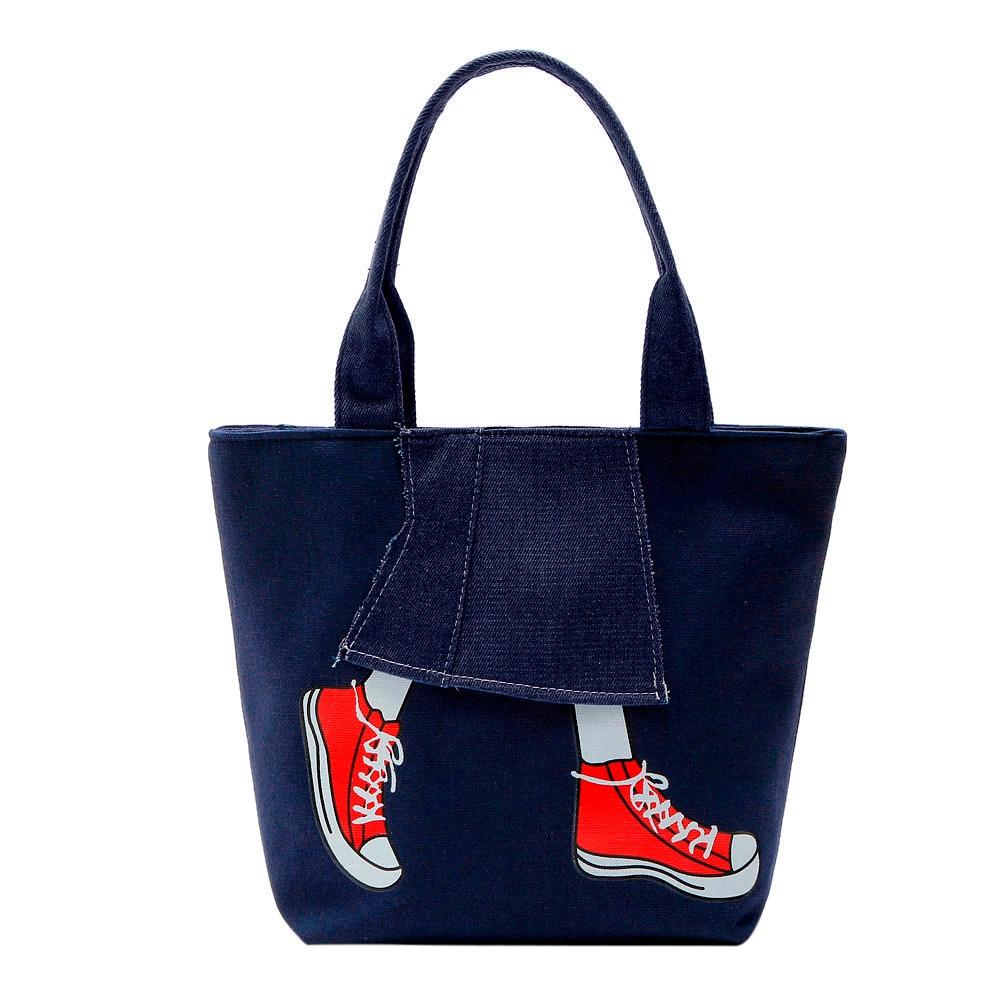 Fashion Women Canvas Eco Reusable Shoulder Handbag Casual Foldable Shopping Tote