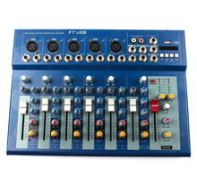Mini bluetooth Portable Audio Mixer with USB DJ Sound Mixing Console MP3 Jack 5 Channel Karaoke 48V Amplifier For Match Party цена и фото