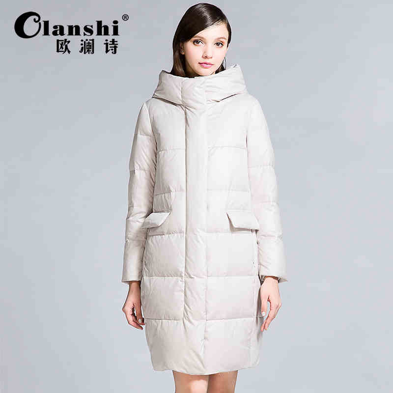 2015 New Hot winter Thicken Warm Cold Woman Down jacket Coat Parkas Outerwear Hooded Luxury long Plus Size XL Straight Loose 2015 new hot thicken warm woman down jacket coat parkas outerwear hooded luxury slim long plus size xl slim cold leisure