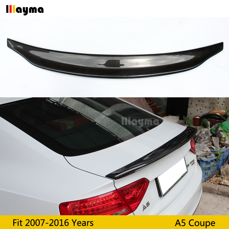 CA style Carbon fiber rear trunk spoiler For Audi A5 2door coupe 2007 2012 2016 year