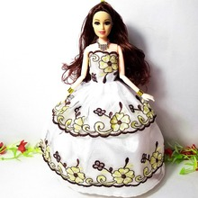 Princess Wedding Dress Noble Party Gown Clothes For Barbie Doll Fashion Design Outfit Best Gift For