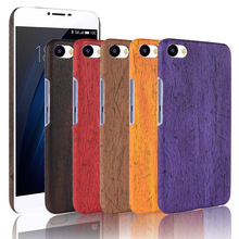For Meizu U20 Case Hard PC+PU Leather Retro wood grain Phone Meilan Cover Luxury Wood for U 20
