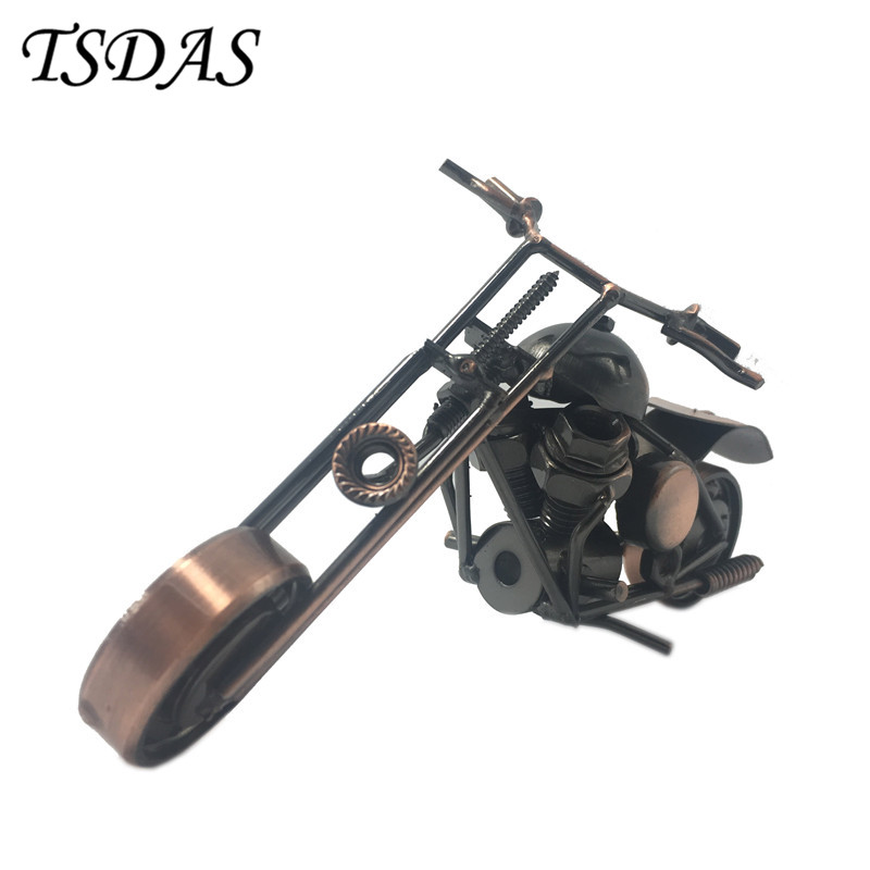 Luxusní železo model motocyklu kovové řemeslo motorové ozdoby starožitný model motocyklu nejlepší domácí kancelář dekor