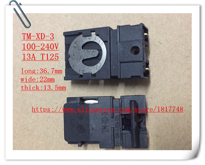 Free Shipping 1PCS Kettle Electric Kettle Thermostat Switch TM-XD-3 100-240V 13A T125 36mm*22mm