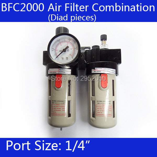 BFC2000 Free Shipping 1/4 Air Filter Regulator Combination Lubricator ,FRL Two Union Treatment ,BFR2000 + BL2000 afc2000 g1 4 air filter regulator combination lubricator frl two union treatment afr2000 al2000