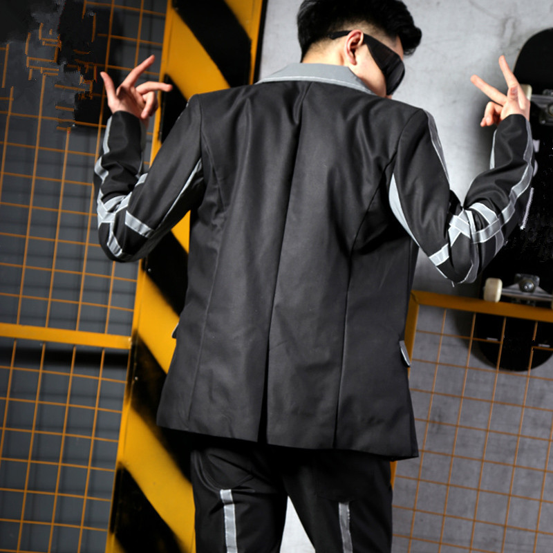 Only Costumes Discothèque Hommes Lumière Masculins veste Réflexion Pants Manteau Jacket jacket De Hip Gris Hop Chanteur Marée Costume Stade Fluorescent Pantalon Bar Outfit q770tHv