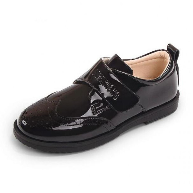 New Boys Black Leather Shoes Children Spring/Autumn Baby Student British style performance Toddler Soft bottom Kids Shoes 02BNew Boys Black Leather Shoes Children Spring/Autumn Baby Student British style performance Toddler Soft bottom Kids Shoes 02B