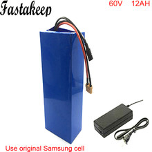 Wholesale price bicycle battery 60v 12ah li-ion e bike battery 60v for electric scooter 1800w motor battery(China)