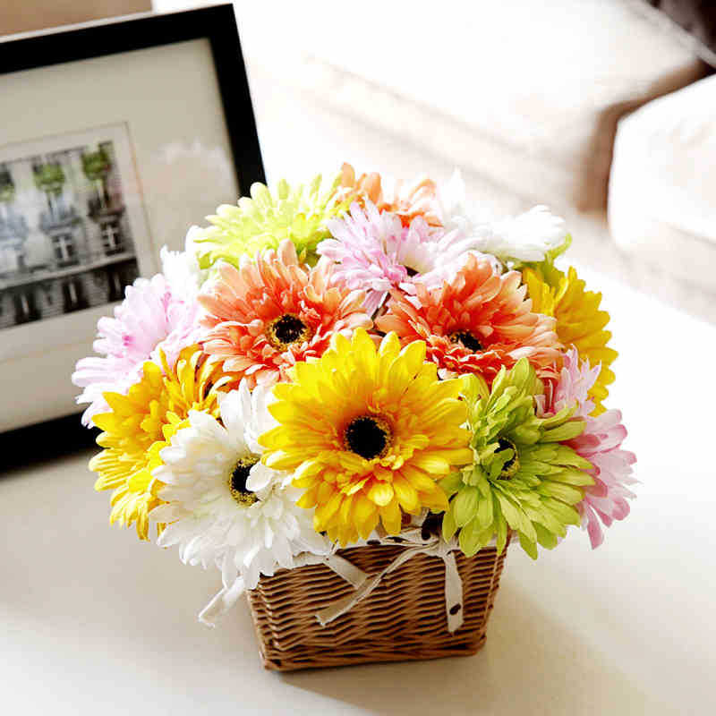 10pcs Colorful Silk Sunflower Artificial Daisy Flower Gerbera Daisy Bouquet Home  Decor Craft For Party Decoration In Artificial U0026 Dried Flowers From Home ...