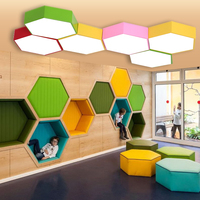 Geometric Ceiling Lamps Multi Color Creative LED Creative Color Honeycomb One Kindergarten Clothing Store Office Lamp