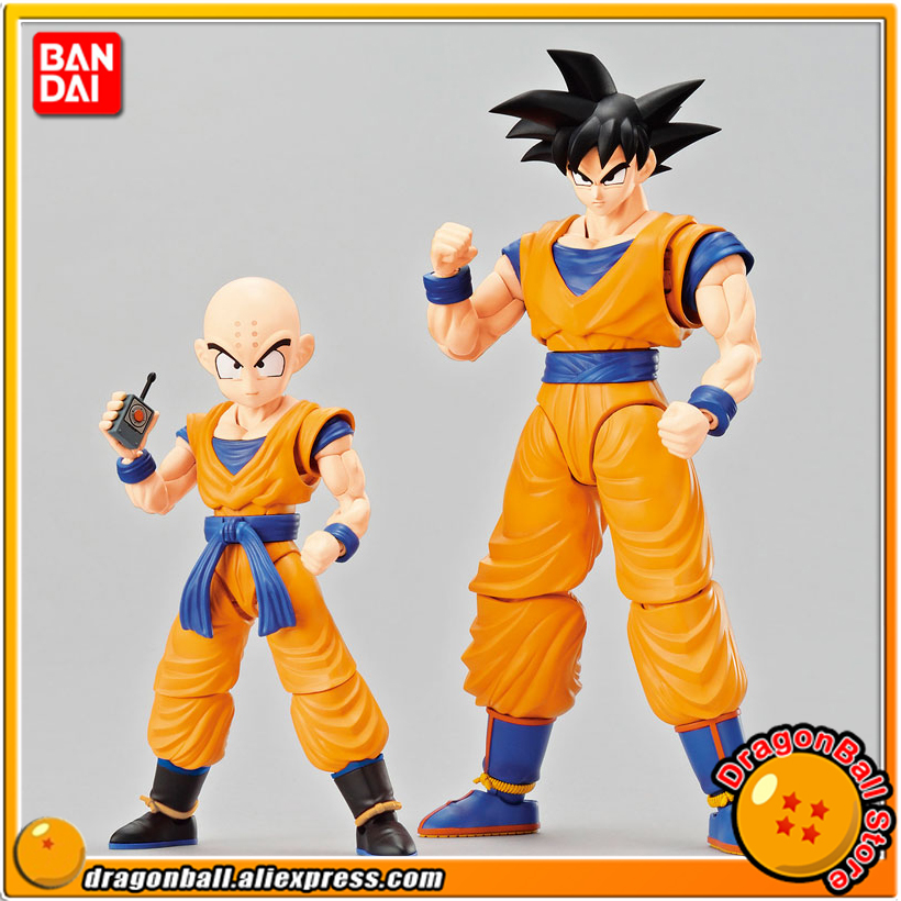 Dragon Ball Z Original BANDAI figure rise Standard Assembly Action Figure Son Goku & Krillin DX Set Plastic Model