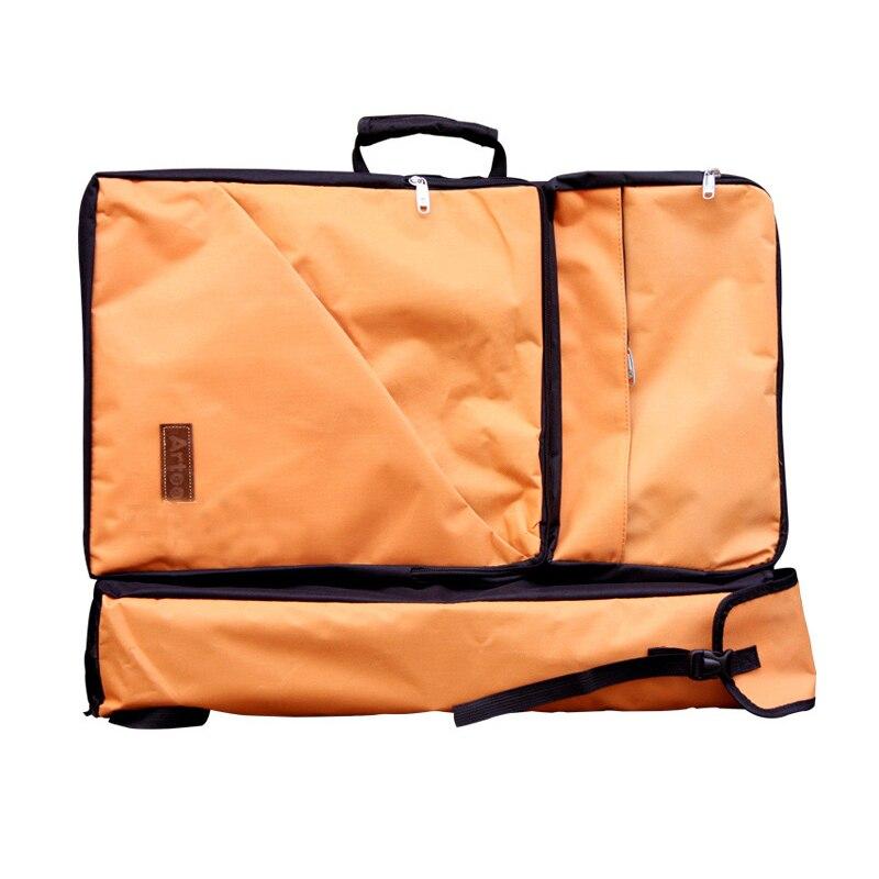 Transon Artist Travel Storage Bag  Shoulder Backpack Portfolio Organizer 26x19.4' Orange Color