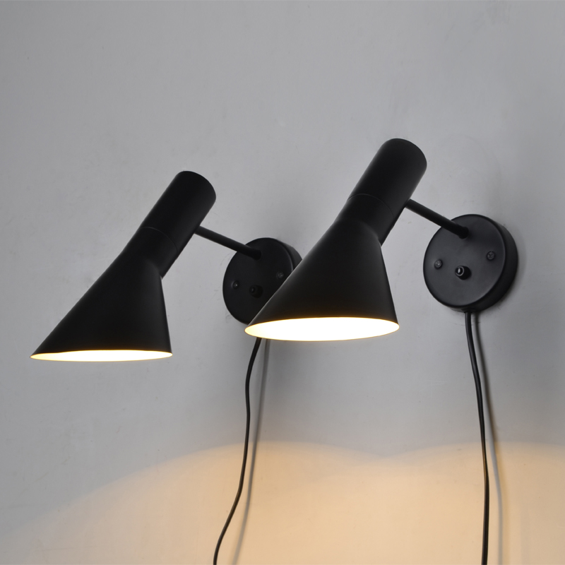 Loft Louis Poulsen Arne Jacobsen AJ Wall Light Cafe Aisle Hall Project Lamp Bedroom Simple long arm iron wall light cafe aisle hall project wall lamp bedroom cafe bar club hall coffee shop club store restaurant