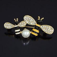 Utei дизайн милая маленькая Желтая брошь в виде пчелы удивительные женские аксессуары для одежды Заколки