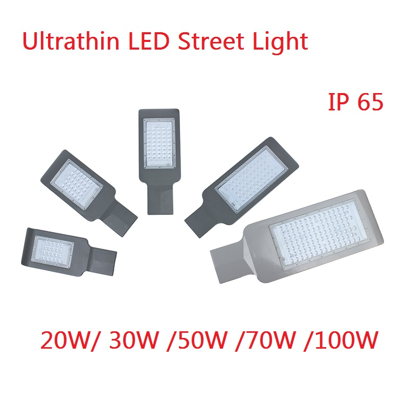 1PCS 100W 50W 30W 20W Outdoor Road Lighting Led Street Light 4Model Streetlight Street Lamp Waterproof High Way Path Light
