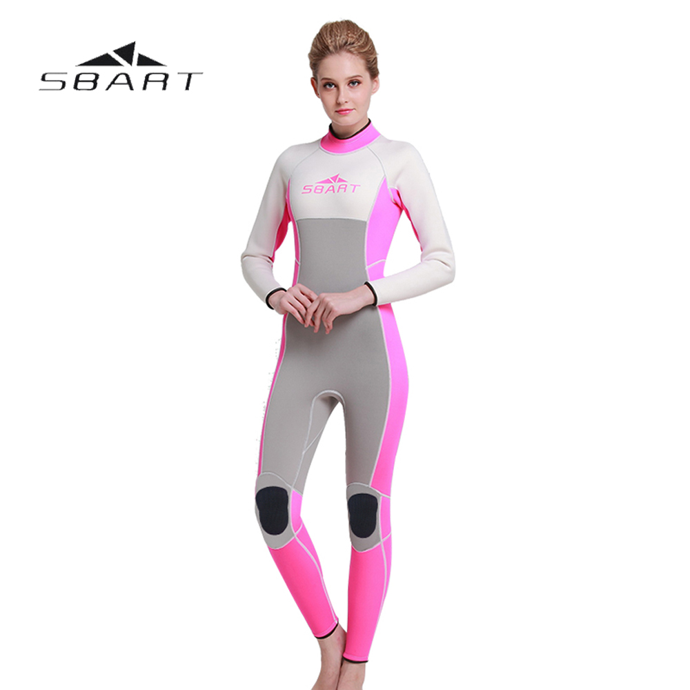 NEW SBART Women Scuba Diving Wetsuit One Pieces Suit Surfing Snorkeling Swimwear Spearfishing Full Body Jumpsuit 3mm Neoprene sbart 3mm neoprene men camouflage full body wetsuit spearfishing fishing swimwear scuba diving suit jumpsuit snorkeling wetsuit