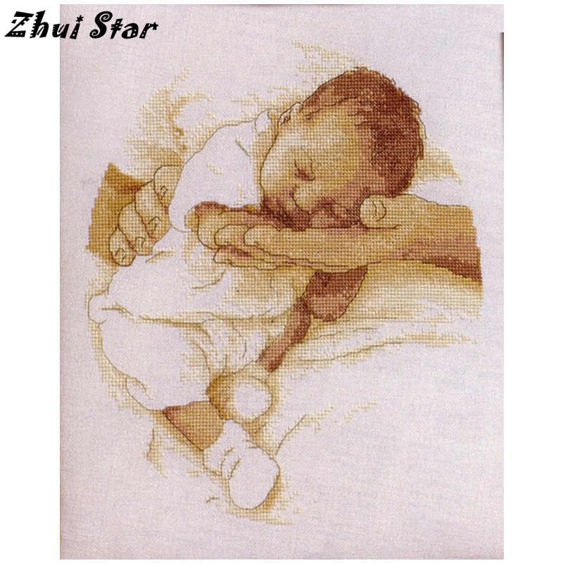 NEW Needlwork 5D DIY Diamond Painting Cross Stitch Crystal Diamond Embroidery Baby In Arms Full Diamond Set Decorative FC723