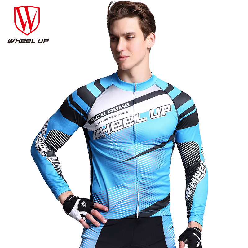 WHEEL UP 2017 Spring Autumn Quick-Drying Anti-Sweat Long Sleeve Man Womens Breathable Bicycle Riding Trousers Cycling Clothing