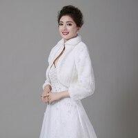 Free Shipping Women Winter wedding faux fur jacket bolero wraps Bridal Coat