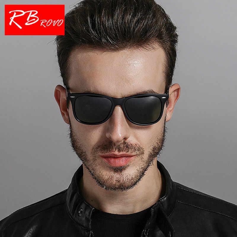 ac23daa2b98 RBROVO 2018 Polarized Square Sunglasses Men Brand Designer Classic HD Eyewear  Women Men Outdoor Travel