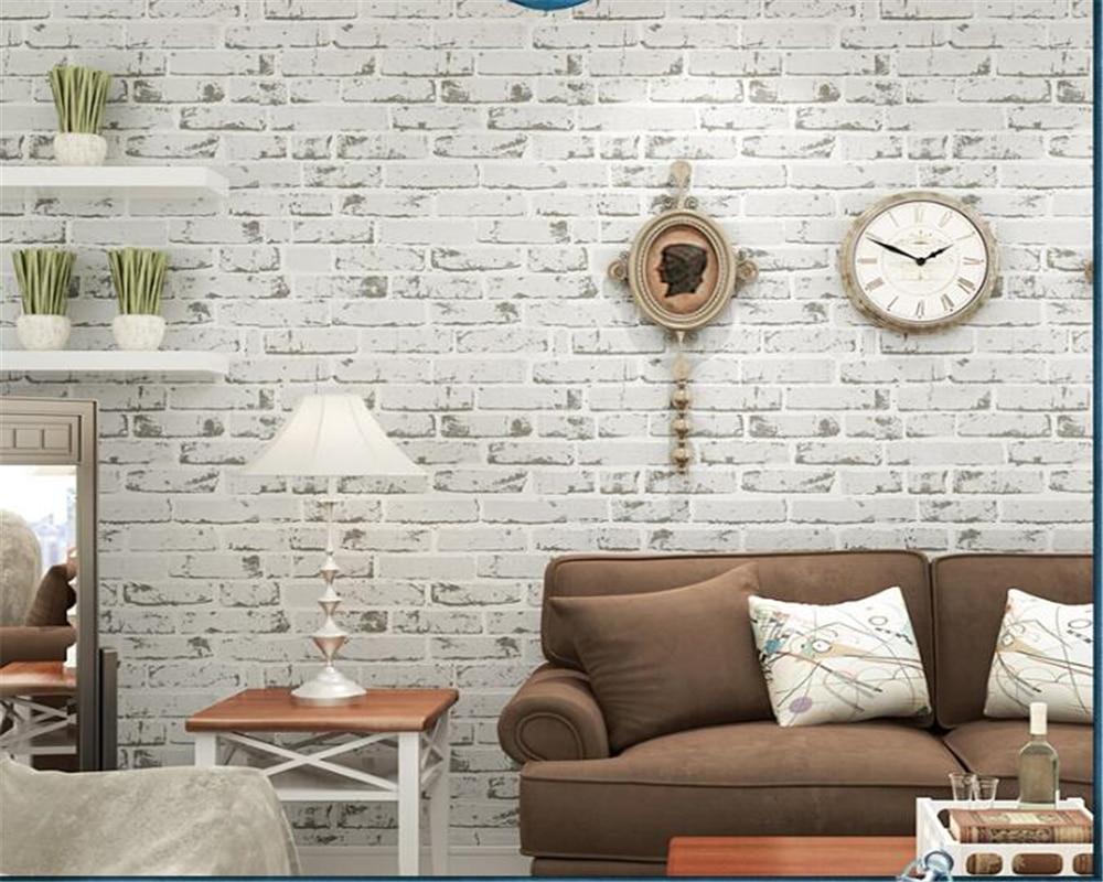 Beibehang moderne maison fond mur 3d papier peint Non-tissé brique papier peint plancher chambre salon mur 3d papier peint 10 m - 2