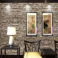 Beibehang Retro 3D Stereoscopic Simulation Brick Wallpaper PVC Waterproof Box Chinese Restaurant Culture Stone Wallpaper