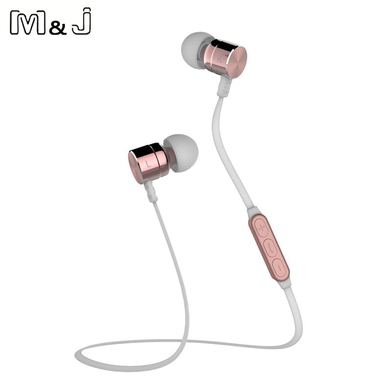 M & J BX325 Metal Magnet di-telinga Auriculares Bluetooth Earphone - Audio dan video mudah alih - Foto 4
