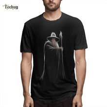 Lord Of The Rings Gandalf Wizard Fellowship Teh Ring T shirt Top Tees New Design Man Free Shipping Summer Camiseta For Boy